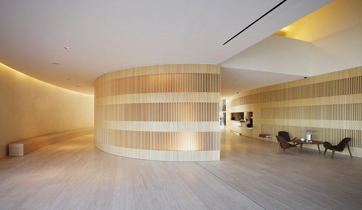 John Pawson · Hotel Puerta América, Reception Desk and ...