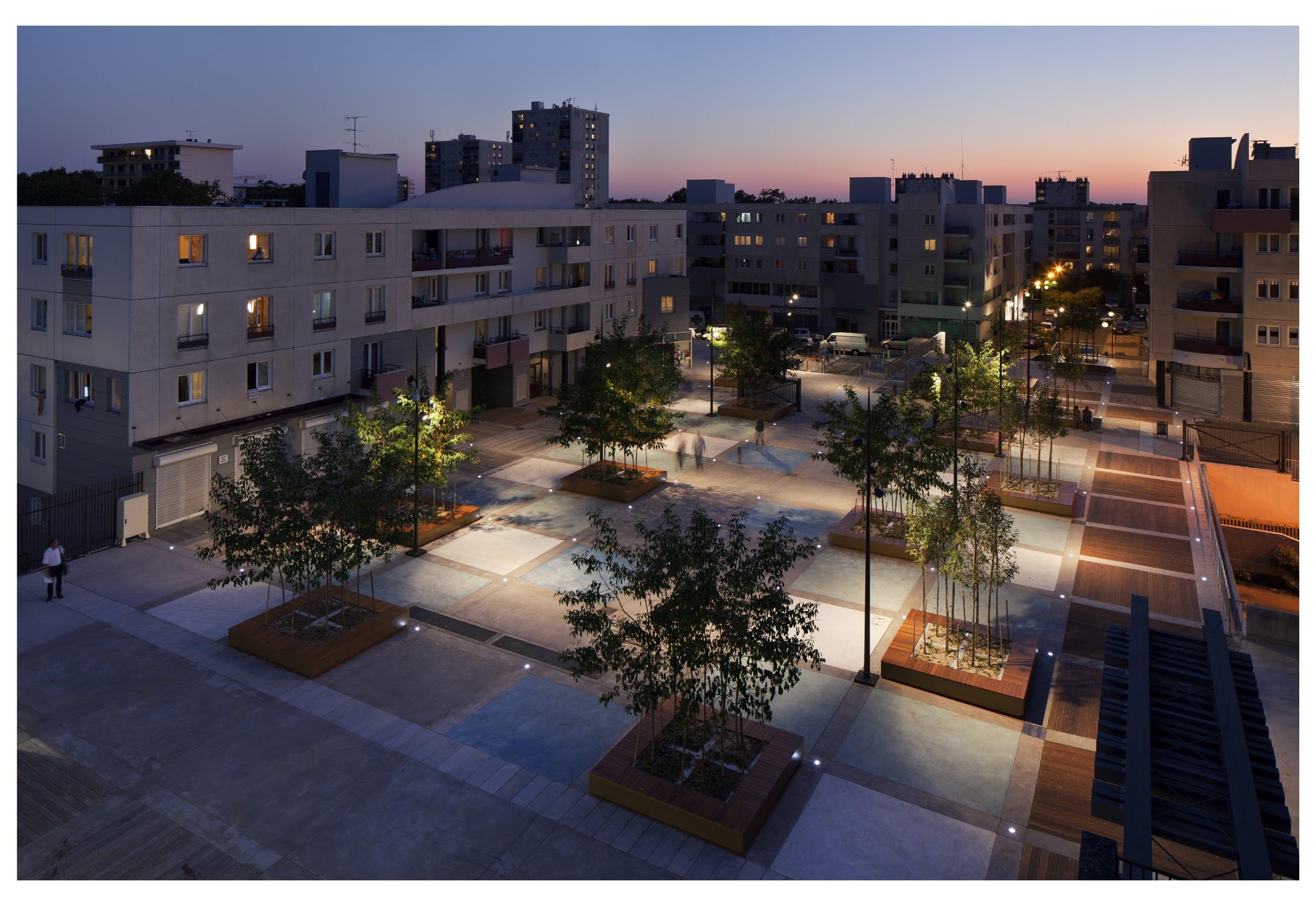 B C Architectes Risistemazione Della Place Des Droits De L