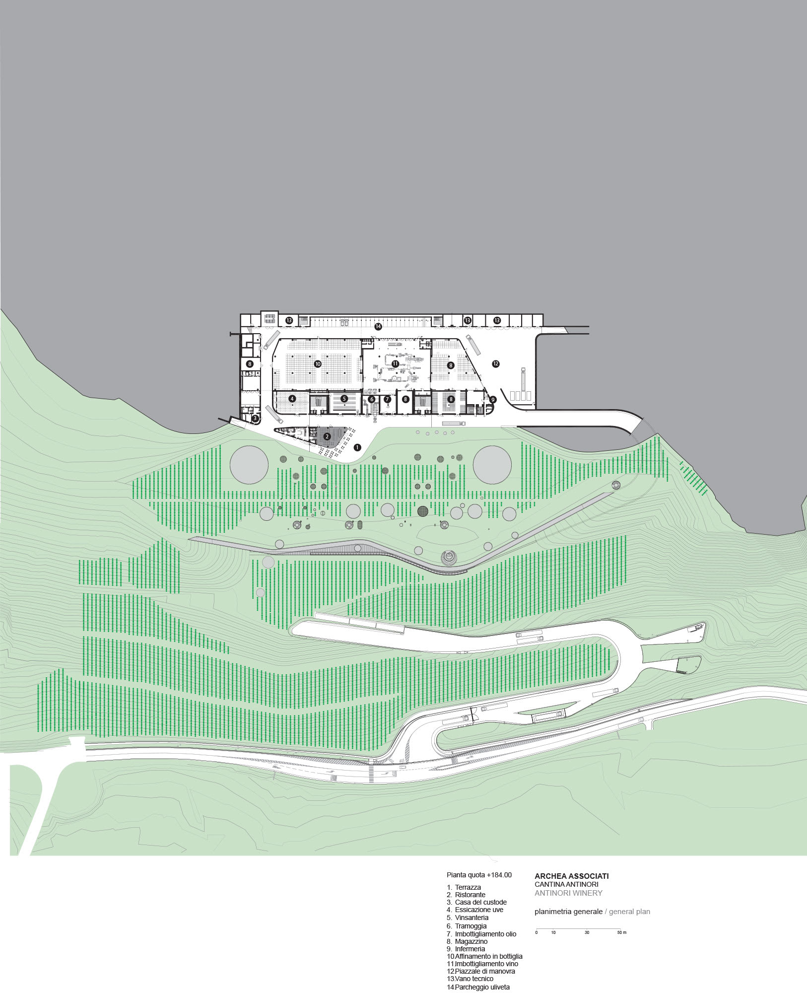 Archea Associati Pietro Savorelli Antinori Winery Divisare