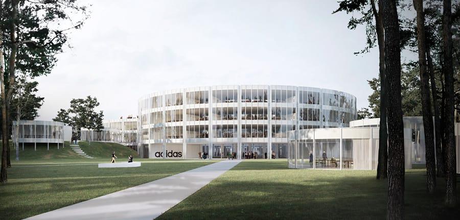 combinación Crítico salir  PARC Architectes · OFFICE BUILDING, ADIDAS HEADQUARTERS · Divisare