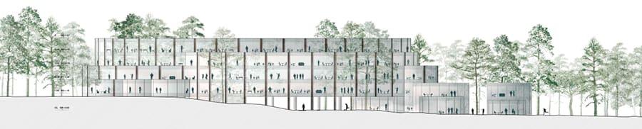 Reflexión Alegre ¿Cómo  PARC Architectes · OFFICE BUILDING, ADIDAS HEADQUARTERS · Divisare
