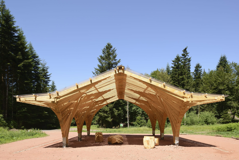 Container Aménagé Studio Prix studiolada architectes · creation of a forest shelter at