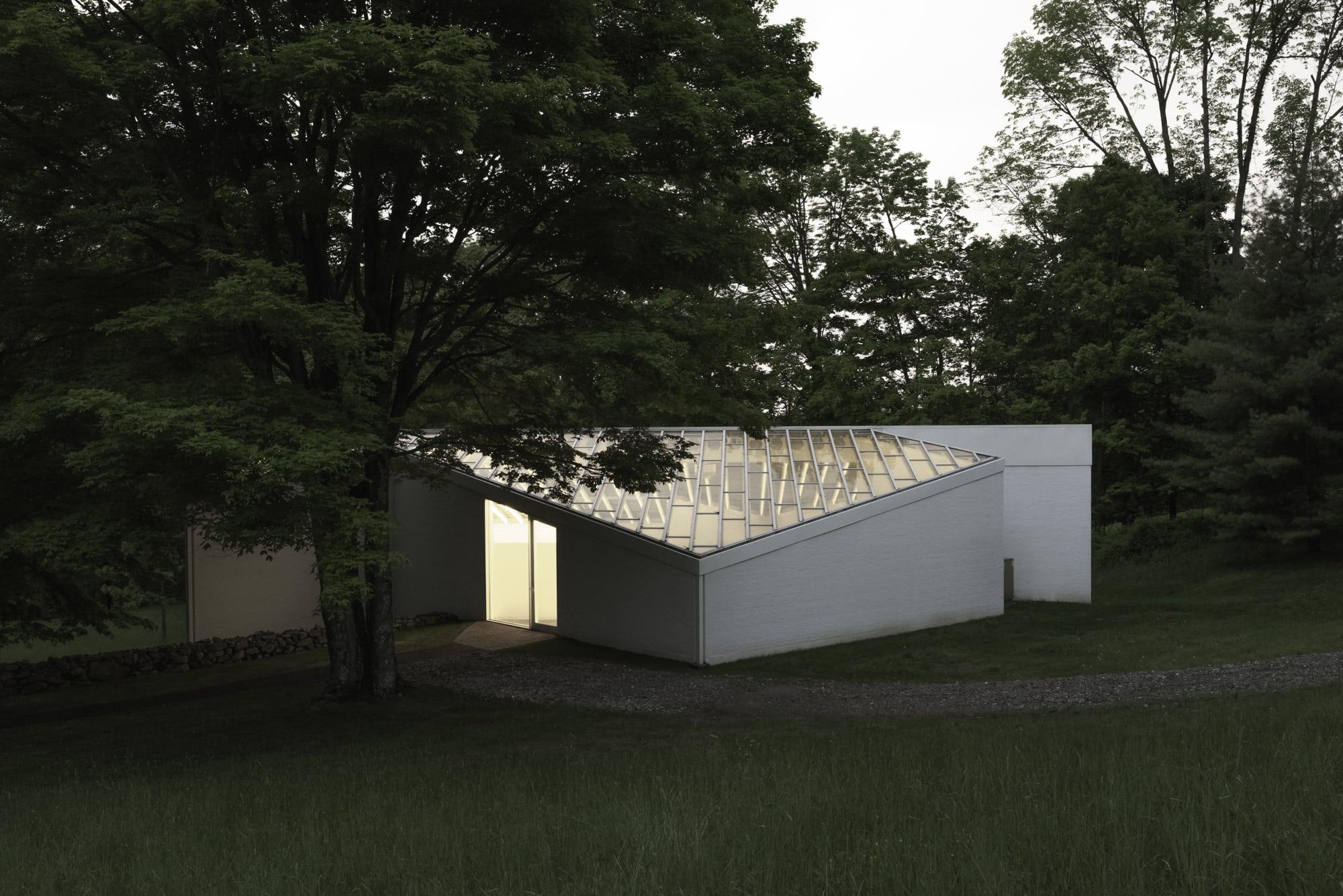 Philip Johnson Glass House philip johnson, lane coder · glass house sculpture gallery