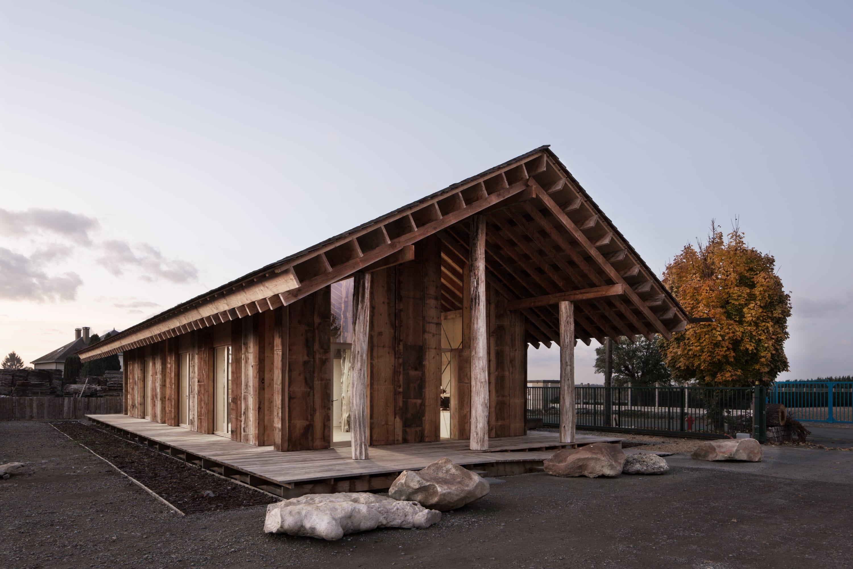RAMDAM, Emilie Gravoueille · Reception Pavilion for a Sawmill · Divisare