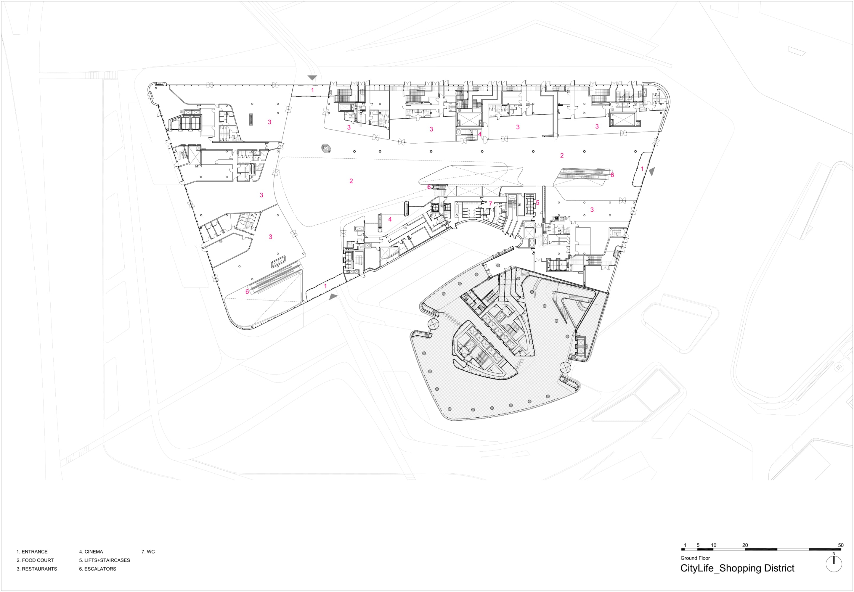 Zaha Hadid Architects Hufton Crow Citylife Shopping District Divisare