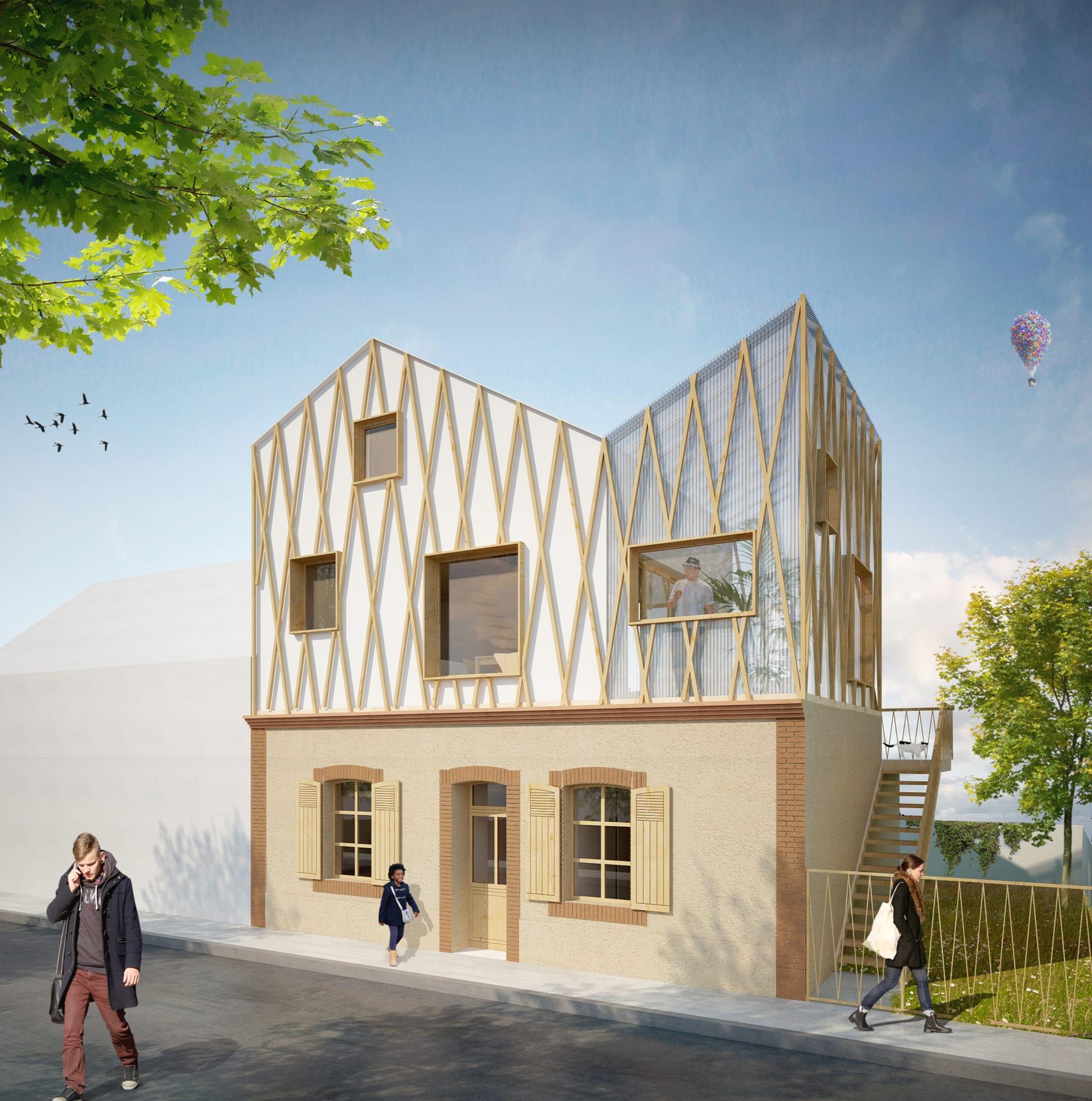 Architecte Le Mans atelier initial · le mans surelevation · divisare