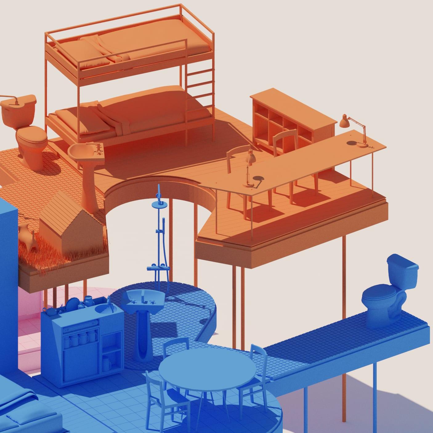 Picture of: Operadora 050 Wǒwu Future Living Space Divisare