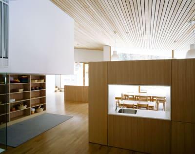 Stifter + Bachmann, Lukas Schaller · Scuola Materna E Biblioteca A Predoi
