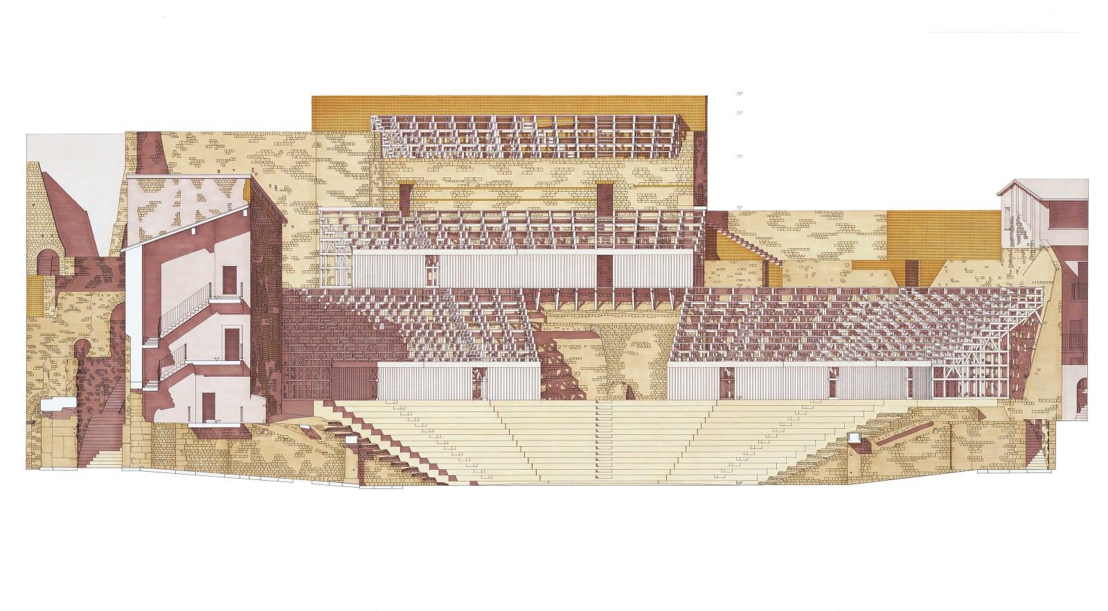 Giorgio Grassi · Progetto di restituzione e riabilitazione del teatro romano di Brescia