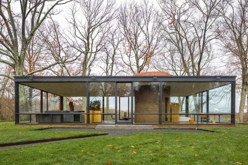 Philip Johnson, Simón García · Glass House