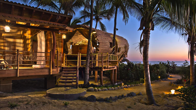 Kimshasa Baldwin ·  Treehouse Suite at Playa Viva Sustainable Boutique Hotel